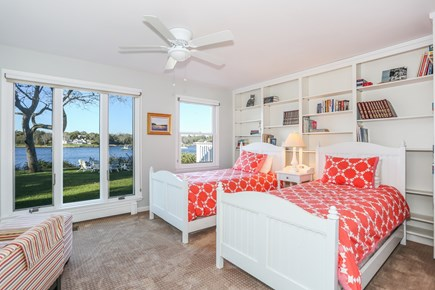 East Orleans Cape Cod vacation rental - Cheery bedroom with 2 twins and waterviews
