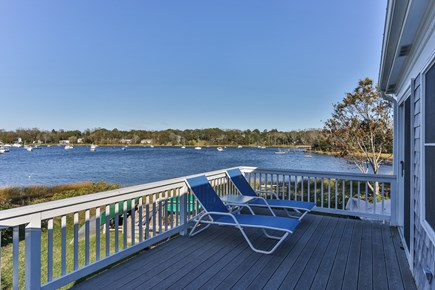 East Orleans Cape Cod vacation rental - Lounge on the deck overlooking Meeting House Pond