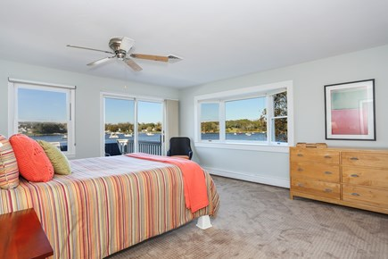 East Orleans Cape Cod vacation rental - Queen bedroom with deck access and water views