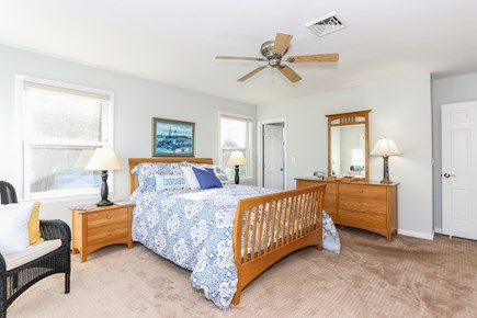 East Orleans Cape Cod vacation rental - Master bedroom with queen bed and bath with shower