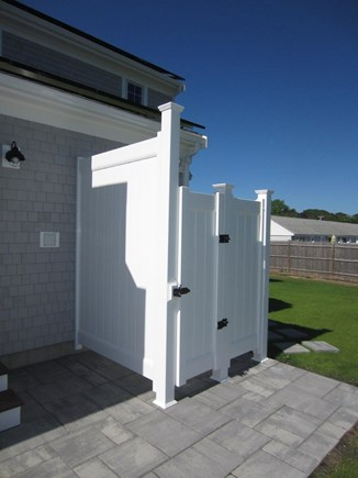 Dennis Port Cape Cod vacation rental - HUGE outdoor shower to clean off after the beach