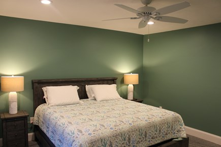 Dennis Port Cape Cod vacation rental - 1st Floor Master BR with private bath and 49 inch TV