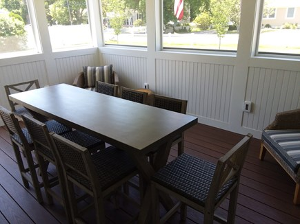 Dennis Port Cape Cod vacation rental - Screened Porch off Kitchen, opens to Patio.