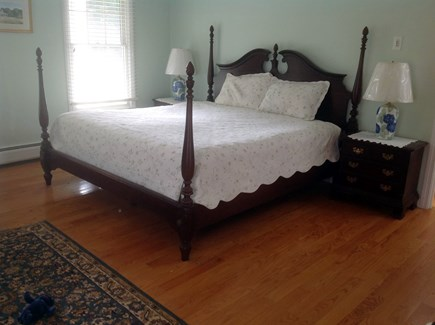 Chatham Cape Cod vacation rental - First floor master bedroom with private deck to outside shower