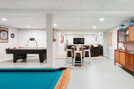 Harwich Cape Cod vacation rental - The finished basement is a great big family fun center.