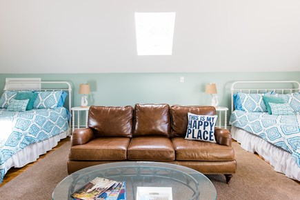 Harwich Cape Cod vacation rental - Bedroom 6 - Two Queens, Leather Sofa, TV Viewing Area, Game Table