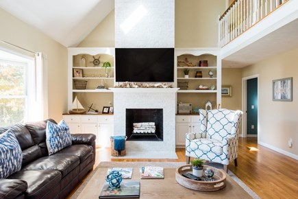 Harwich Cape Cod vacation rental - Spacious Living Room open to the kitchen, dining, sun room