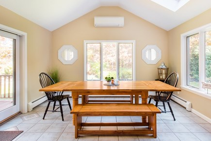 Harwich Cape Cod vacation rental - Connected to the kitchen is the sun room with another large table