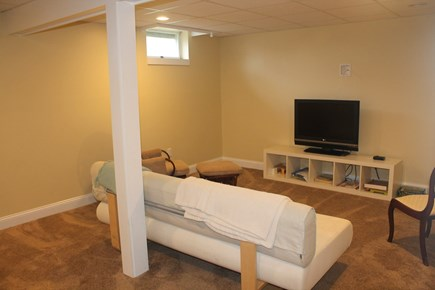 Eastham Cape Cod vacation rental - Finished basement room with TV