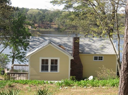 Eastham Cape Cod vacation rental - Back of The Cape House with view of pond