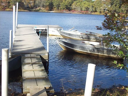 Eastham Cape Cod vacation rental - Dock with boats in front of the cottage. Boats can be used