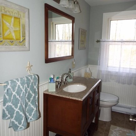 Eastham Cape Cod vacation rental - Downstairs bath with tub & shower