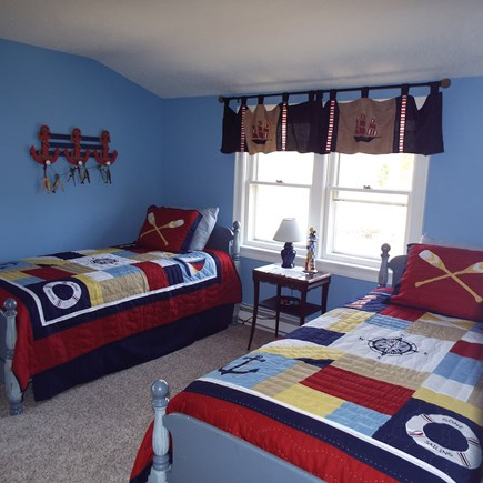 Eastham Cape Cod vacation rental - Upstairs twin nautical theme