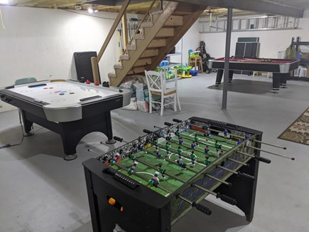 Eastham Cape Cod vacation rental - Cellar: washer/dryer, pool table, ping pong, air hockey, Foosball