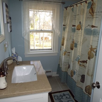 Eastham Cape Cod vacation rental - Upstairs bath with tub and shower