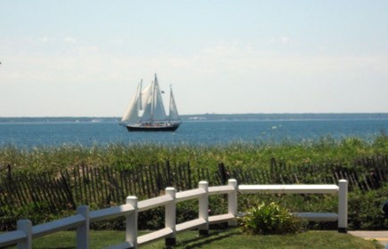 Maravista, Falmouth Heights Cape Cod vacation rental - View across Nantucket Sound from the front porch