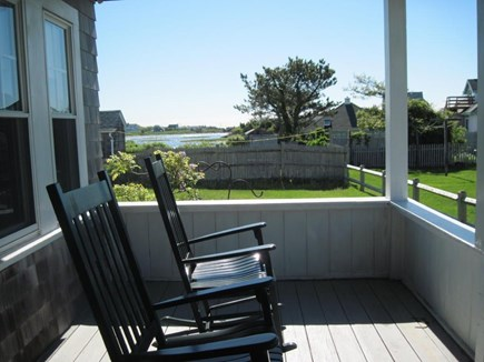 Maravista, Falmouth Heights Cape Cod vacation rental - Front Porch also offers views of Great Pond to the east.
