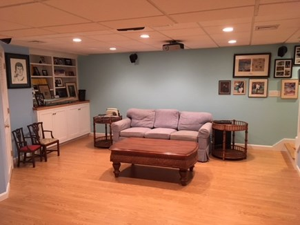 Harwich Cape Cod vacation rental - Lower Level media room with sitting area