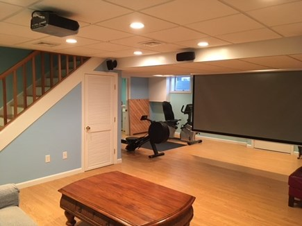 Harwich Cape Cod vacation rental - Lower level media room (alternate view)