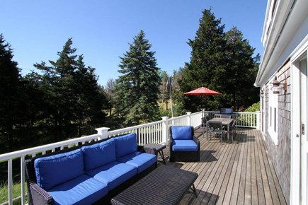 East Orleans Cape Cod vacation rental - Mahogany and PVC Deck off Main House