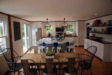 East Orleans, Mill Pond  Cape Cod vacation rental - Gourmet Eat In Kitchen and Island