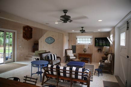 East Orleans, Mill Pond  Cape Cod vacation rental - Boat House First Floor, Second Floor Game Room open to below