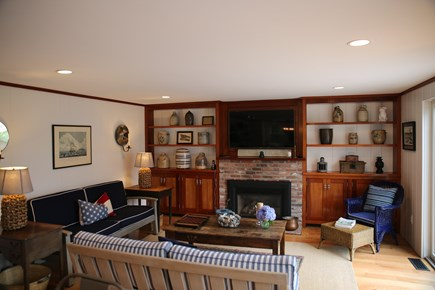 East Orleans, Mill Pond  Cape Cod vacation rental - Great Room - open to Kitchen with gas fireplace