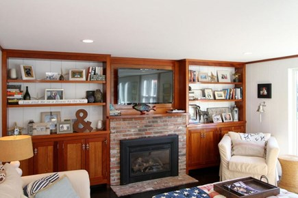 East Orleans Cape Cod vacation rental - Family Room with Gas Fireplace