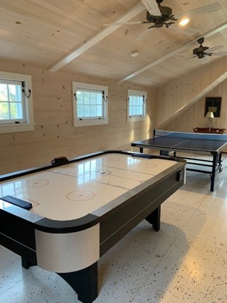 East Orleans, Mill Pond  Cape Cod vacation rental - Game Room Boathouse Loft:air hockey and ping pong table