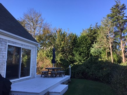 East Orleans Cape Cod vacation rental - Private back yard with wraparound deck
