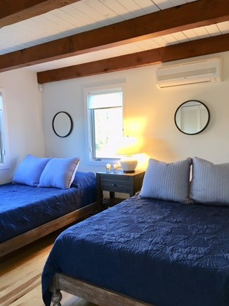 East Orleans Cape Cod vacation rental - First floor bedroom with 2 New sets of Double beds