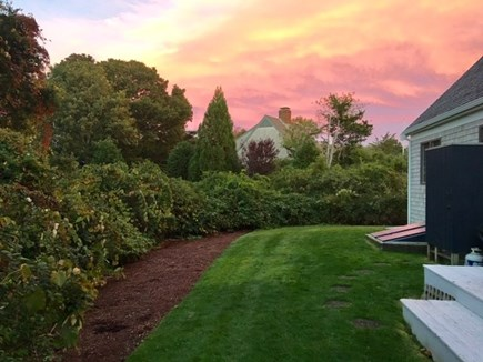 East Orleans Cape Cod vacation rental - Private back yard w/wraparound deck & outdoor shower