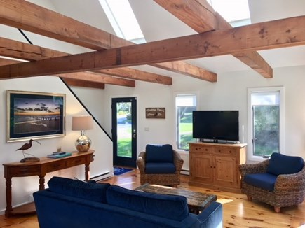 East Orleans Cape Cod vacation rental - Love the post and beams & open floor plan!