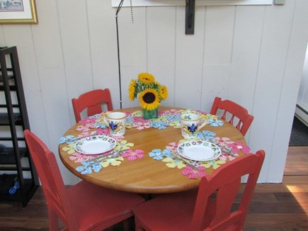Dennisport Cape Cod vacation rental - Dining area, comfortable seating for 4.