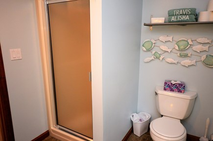 Eastham Cape Cod vacation rental - 2nd floor bathroom with standup shower