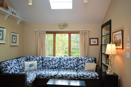 Eastham Cape Cod vacation rental - Living room with bright skylight