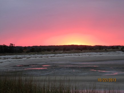 Brewster Cape Cod vacation rental - Sunset from Paines Creek Beach, a two minute walk from the house