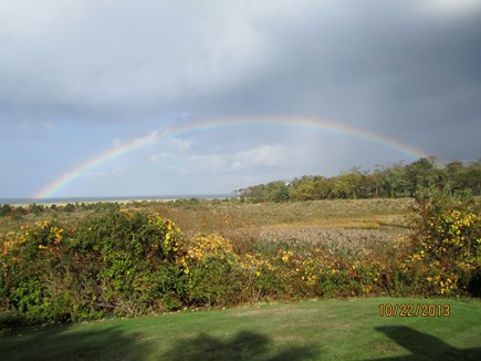 Brewster Cape Cod vacation rental - Rainbow over the Bay