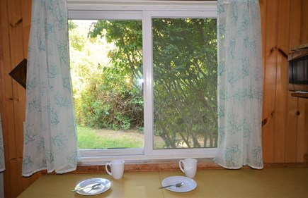 Orleans Cape Cod vacation rental - Breakfast nook with views of backyard
