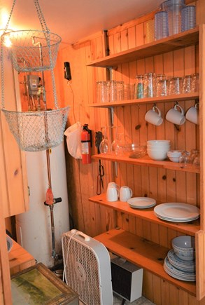 Orleans Cape Cod vacation rental - Pantry area with kitchenware