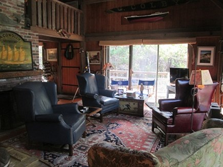 Wellfleet Cape Cod vacation rental - Living room with access to the deck