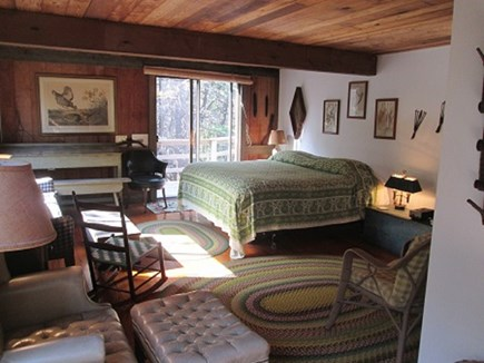 Wellfleet Cape Cod vacation rental - Master bedroom with access to the deck.  Main floor