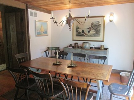 Wellfleet Cape Cod vacation rental - Dining room with slider to the deck