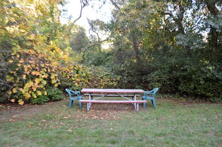 Orleans Cape Cod vacation rental - Back yard picnic area