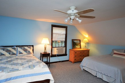 Orleans Cape Cod vacation rental - Upper level Queen bedroom with 2 queens and A/C