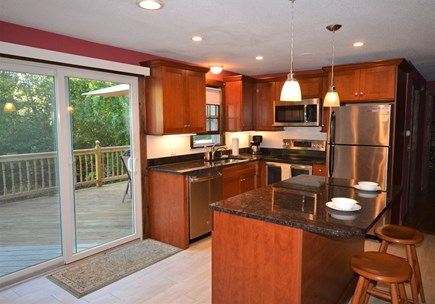 Orleans Cape Cod vacation rental - Updated kitchen with stainless steal appliances with sliding door