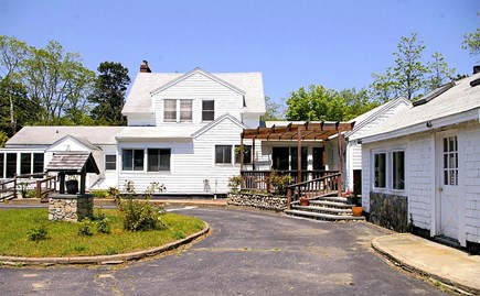 Eastham Cape Cod vacation rental - The driveway which leads to the backdoor, porch and back yard.