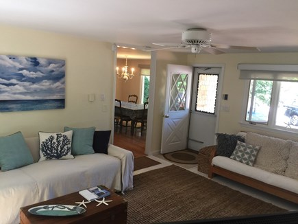 North Falmouth Cape Cod vacation rental - Living room with 2nd TV and futon