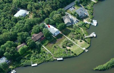 East Falmouth Cape Cod vacation rental - Overhead view