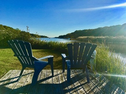 East Falmouth Cape Cod vacation rental - Watch the gorgeous sunsets from the dock.